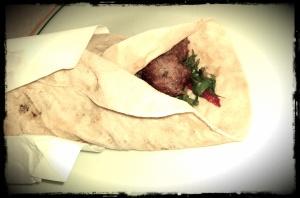 Keme Kebab in a Lavash