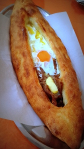 Mixed Pide (with fried meat, cheese and egg)